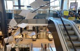 Luftraum-Inszenierung in Einzelhandel