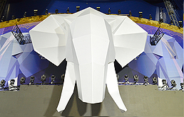 Elefant als Projektionsfläche