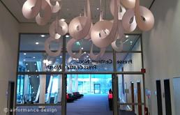 Messe-Beispiel: Curls als Verbindung von Foyer im Pressezentrum