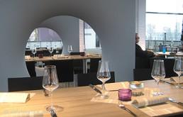 Event-Beispiel: Premiere Lochkubix-Raumteiler in Restaurant