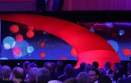 Eventobjekt: Rote Spirale für IFA/Innotrans-Gala