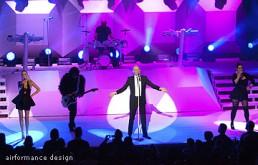 Bühnenbild-Beispiel: Waben auf Europatour mit The Human League